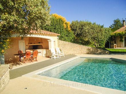 le pool house de la location de vacances villa jonquerettes vaucluse - Location Villa Avec Piscine Luberon