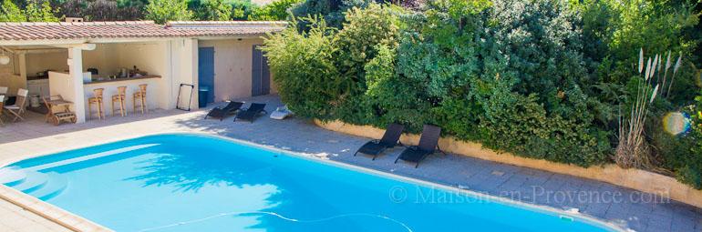 Villa piscine priv e dans un domaine r sidentiel avec for Location vacances bouches du rhone piscine