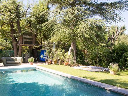 Villa piscine priv e entre campagne et ville 2 km du - Jardin autour de la piscine aixen provence ...