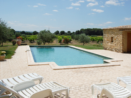 Mas en pierre piscine priv e au calme la campagne - Piscine de la potennerie ...