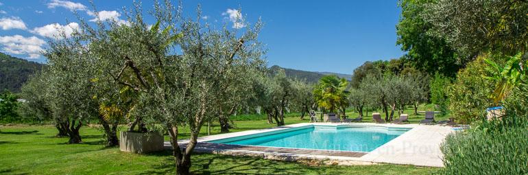 Mas piscine priv e dans un domaine agricole les m es for Location alpes de haute provence avec piscine