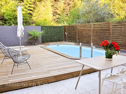 La piscine de la location de vacances Maison de village à Montpellier ,34