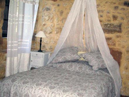 Une chambre de la location de vacances Maison à Uzès ,Gard, Provence Alpes Côte d´Azur, France