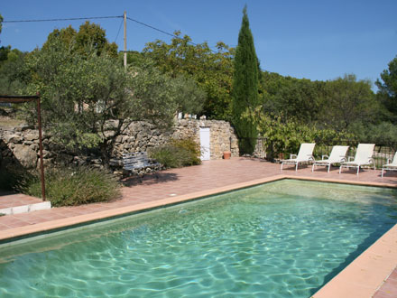 The Swimming Pool Of The Holiday Rental Mas At Cotignac ,Var