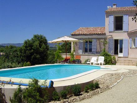 Villa piscine priv e entre luberon et mont ventoux for Location maison piscine ardeche