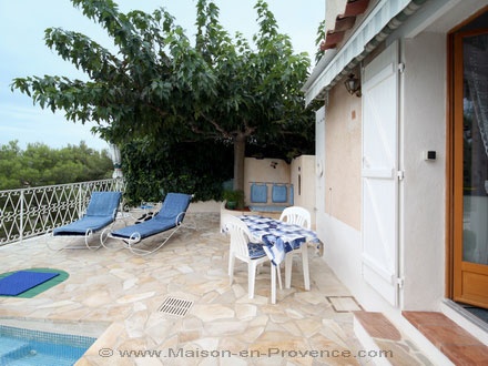 La terrasse de la location de vacances Appartement à Toulon ,Var