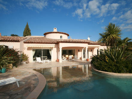 Holiday Detached Villa Private Pool With A Garden Landscape In