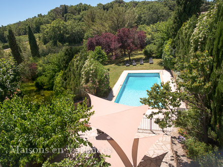 La piscine de la location de vacances Mas à Martignargues ,Gard