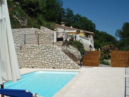 The Swimming Pool Of The Holiday Rental Appartement At Gattières ,Alpes  Maritimes